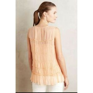 Anthropologie Tops - New Anthropologie Calla Lace-Up Tank Blouse Size 6